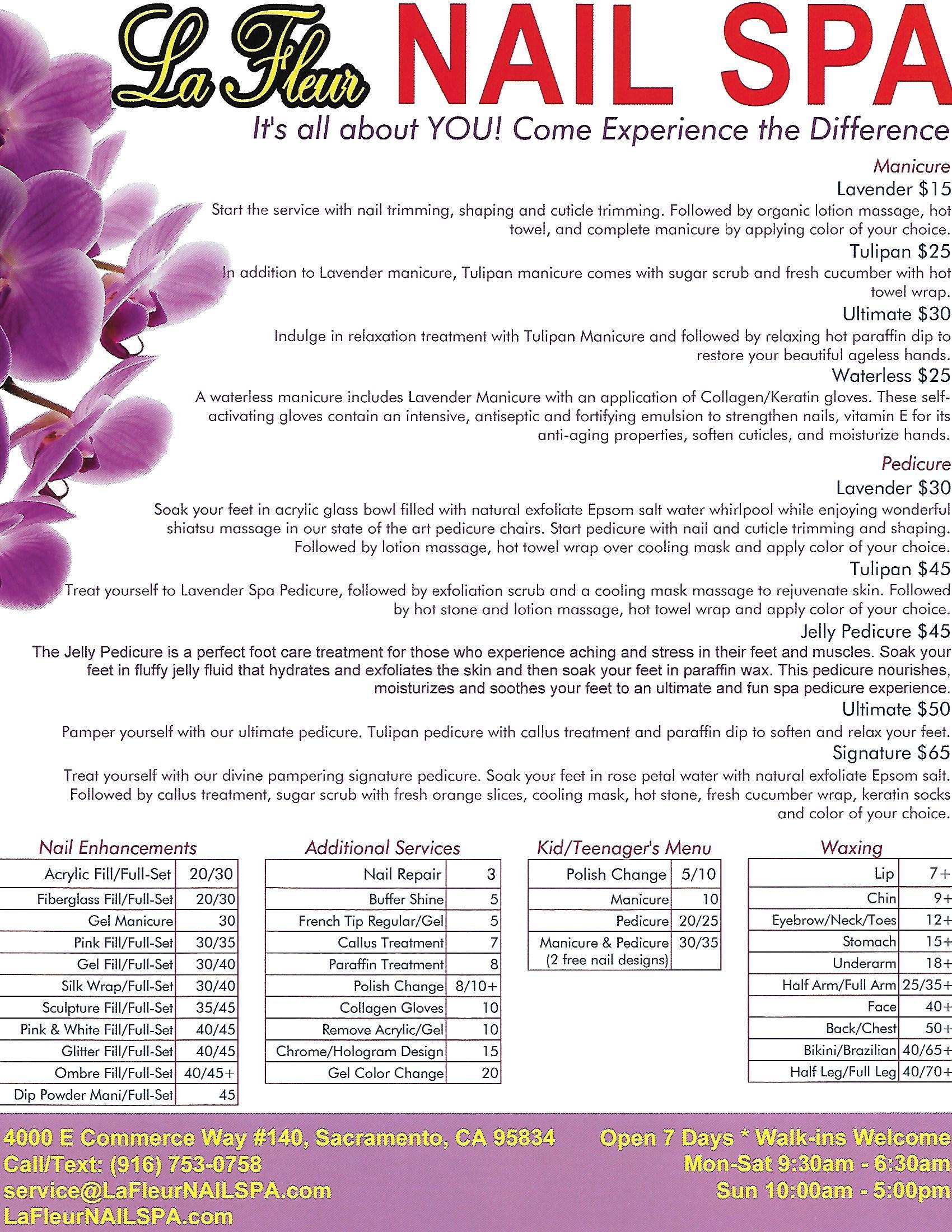 La Fleur NAIL SPA Services - La Fleur NAIL SPA